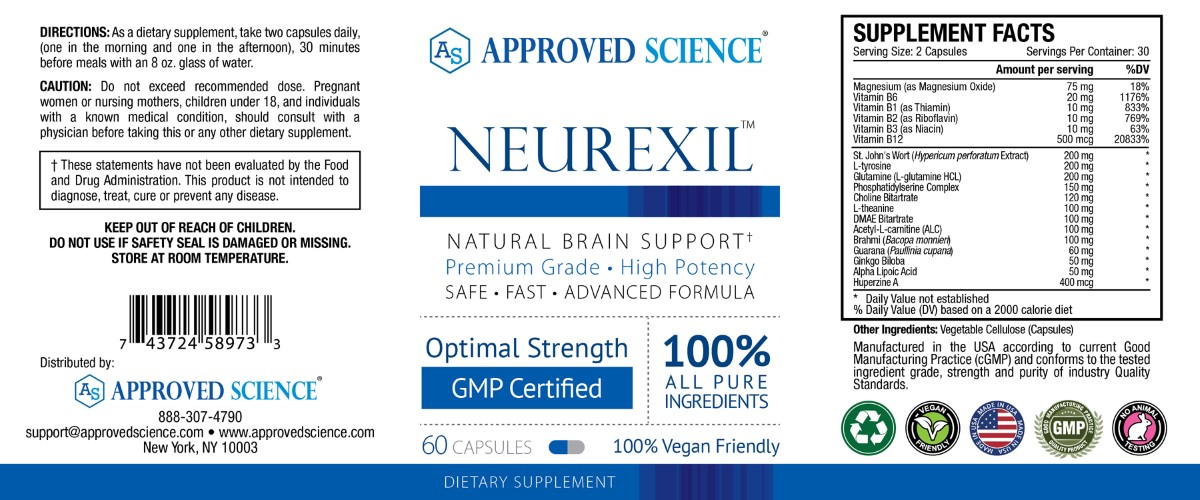 Neurexil Supplement Facts